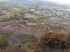 Här slutade branden sin framfart precis intill bebyggelsen.