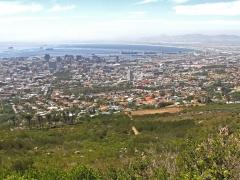 Vy över Kapstaden från Taffelberget.