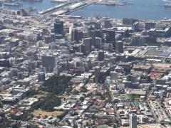 Vy över Kapstaden från Taffelberget.  Table Mountain. Cape Town.