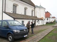 1/5 Utanför vårt hotell Villa Regent i Tykocin.