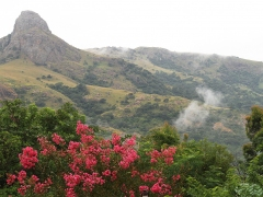 Utsikt från restaurangen i Mantenga Lodge.