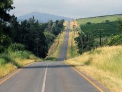 Vi har lämnat Krügerparken, passerat gränskontrollen  och kör vidare mot Swaziland.